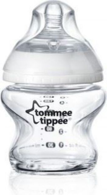 تصویر شیشه شیر شیشه ای Tomme Tippee
