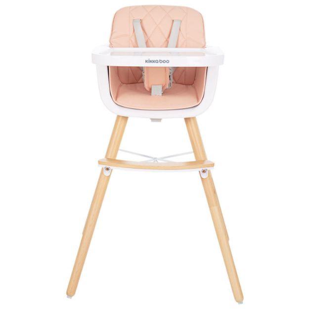 تصویر از صندلی غذای کودک کیکابو مدل چوبی